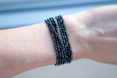 Easy DIY Bead Bracelet And Necklace In One