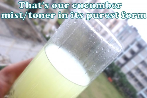 cucumber face mist toner (via stylecraze)