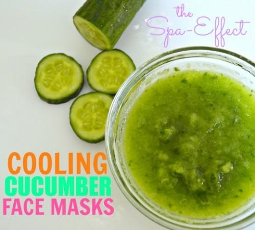 cucumber pore-tightening facial mask (via healthmunsta)