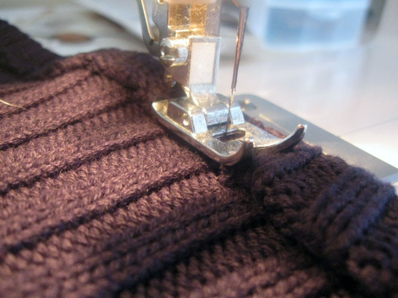 Picture Of easy diy cowl from a flipped sweater  8