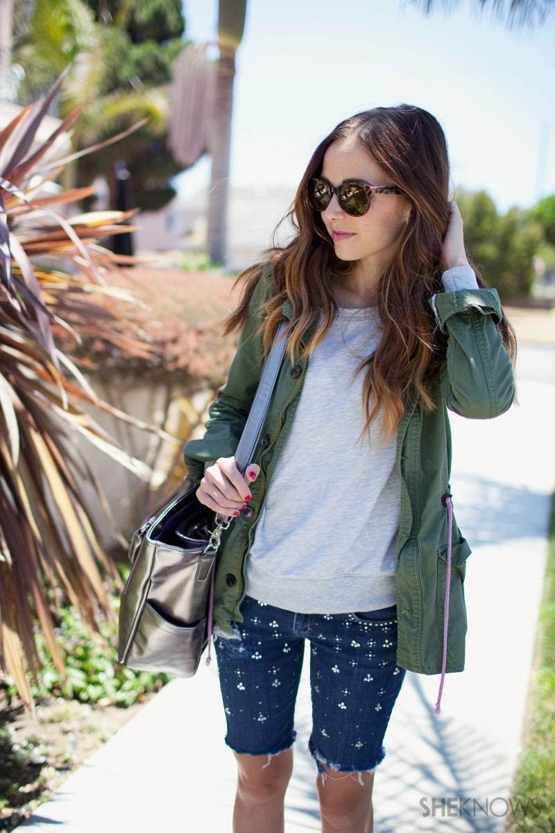 Picture Of easy diy embellished denim shorts  1