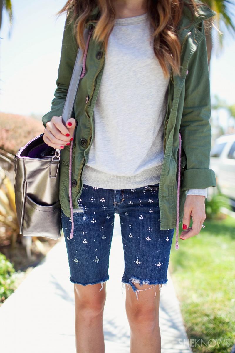 Picture Of easy diy embellished denim shorts  6