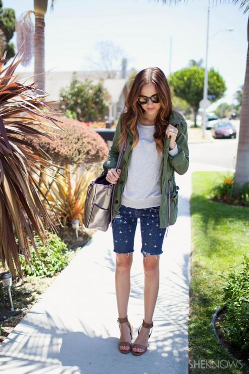 Easy DIY Embellished Denim Shorts