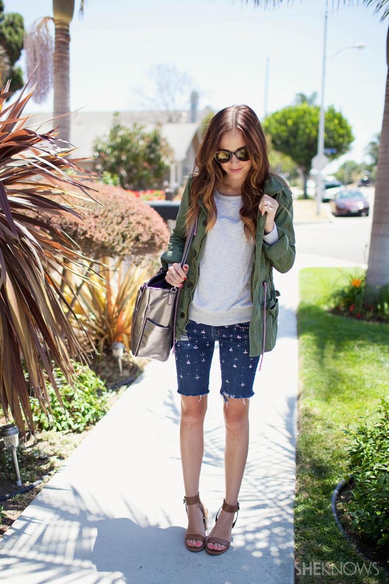 Picture Of easy diy embellished denim shorts  7
