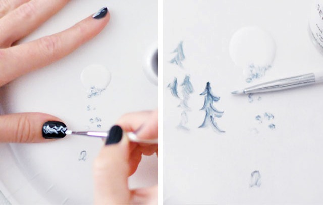 Picture Of easy diy feathered nail art  3