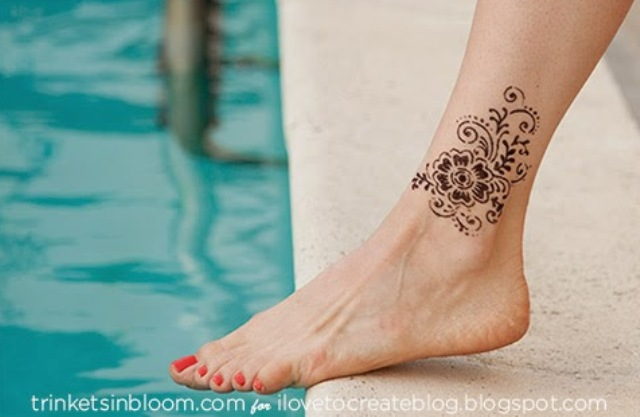Picture Of easy diy glam glitter tattoo  5