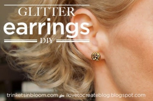 Easy DIY Glitter Earrings For Holidays