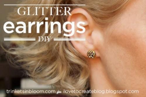 Easy DIY Glitter Earrings For Holidays