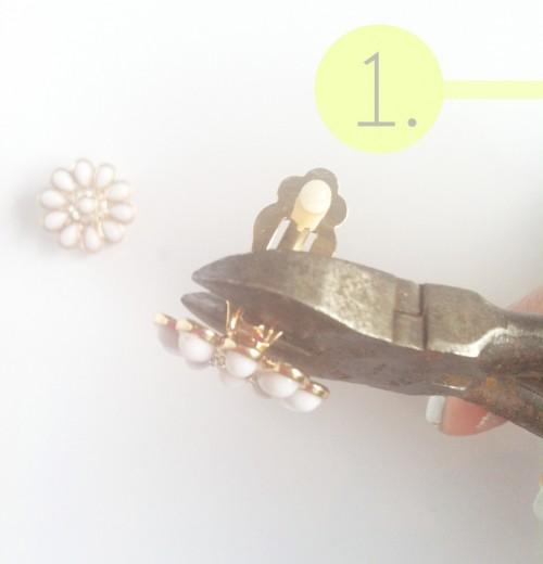 Easy DIY Hairpins From Earrings
