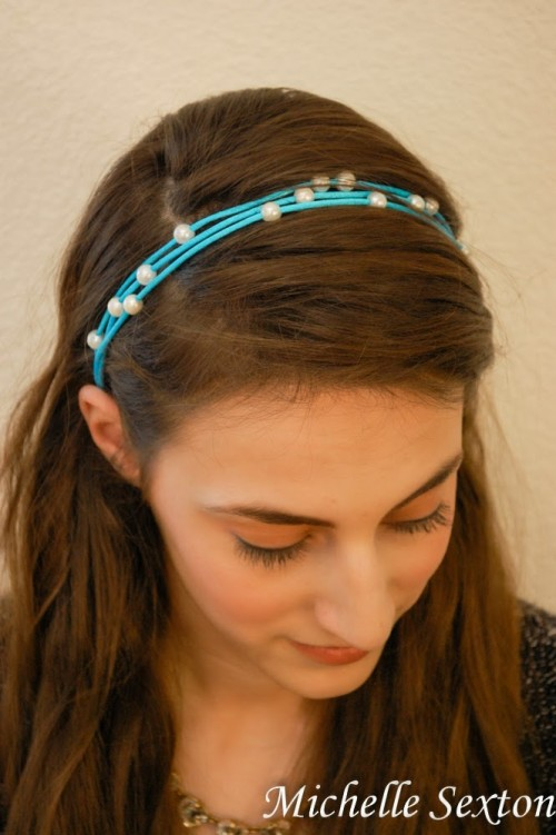 Easy DIY No Sew Headband With Pearls