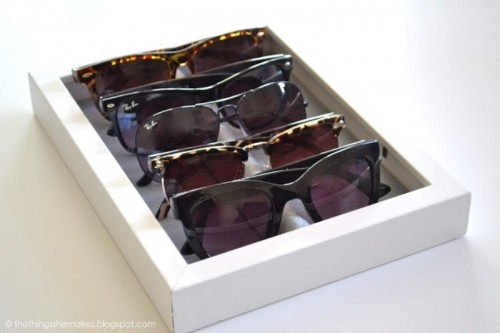 Easy DIY Sunglasses Storage Tray
