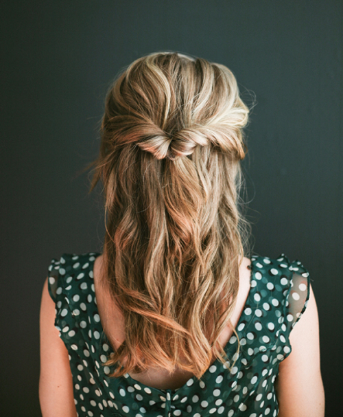 Diy Wedding Hair Half Up: Easy DIY Topsy Half Up Hairstyle For Valentine's Day