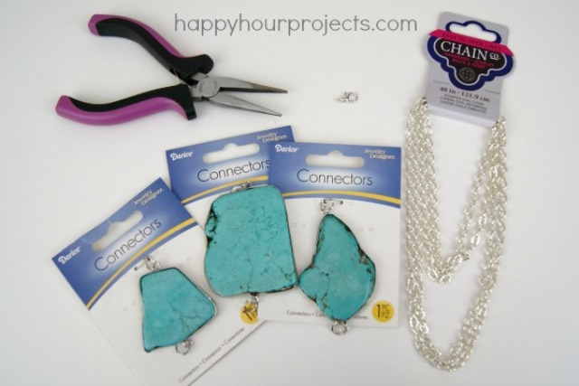 Picture Of easy diy turquoise necklace  2