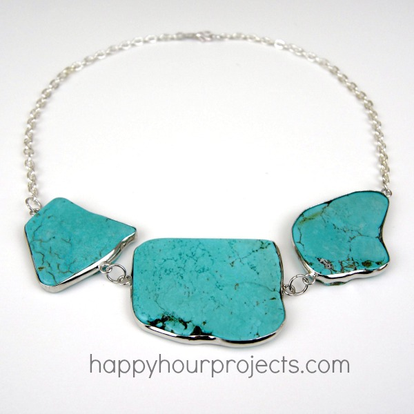 Picture Of easy diy turquoise necklace  5