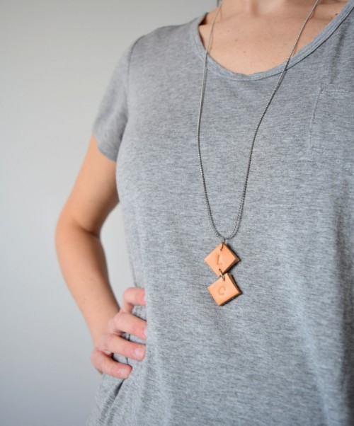 Easy DIY Upcycled Leather Necklace