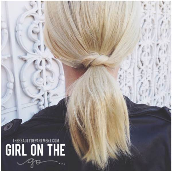 Picture Of easy peasy yet chic diy short hair ponytail  1