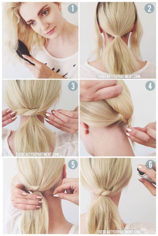 Picture Of easy peasy yet chic diy short hair ponytail  2