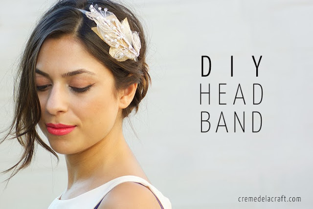 Picture Of easy to make beaded bridal headband  1