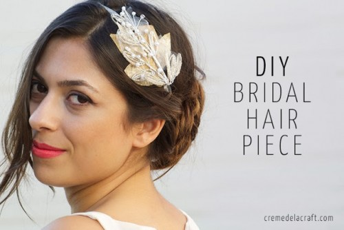 Easy To Make Beaded Bridal Headband