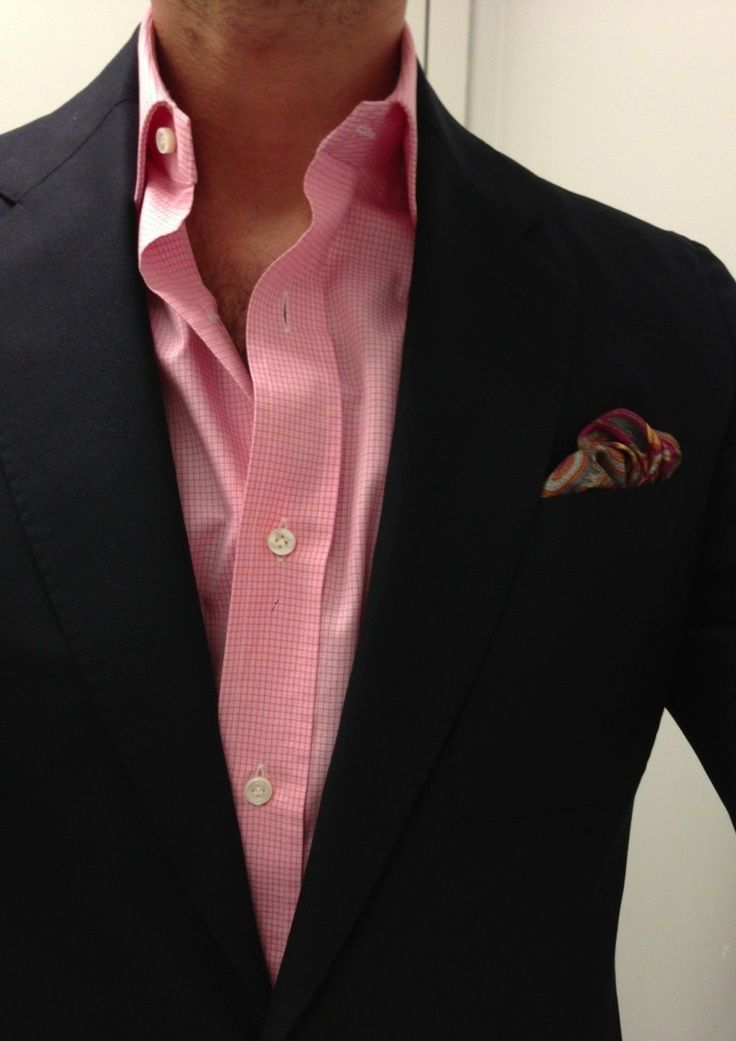 Picture of edgy bright men outfits for work 10 for Pink shirt tie combo