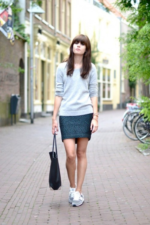 Edgy Work Outfits With Sneakers