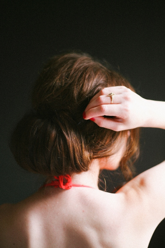 Picture Of elegant and easy diy hair updo  2