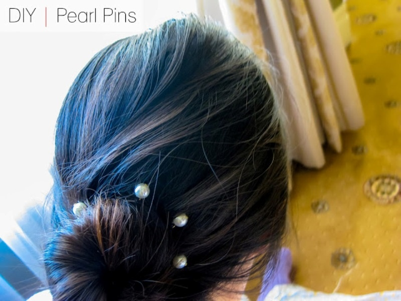 Picture Of elegant and simple diy pearl pins  1