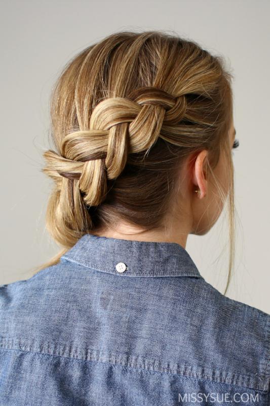 Picture Of elegant diy side swept dutch braid ponytail  2