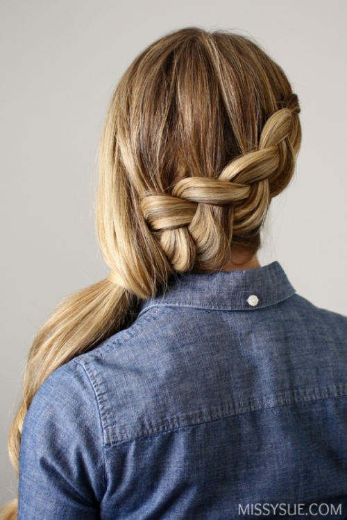 Elegant Diy Side Swept Dutch Braid Ponytail Styleoholic
