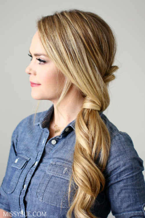 Elegant DIY Side Swept Dutch Braid Ponytail