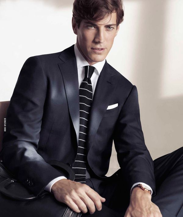 Picture Of elegant striped men outfits for work  10