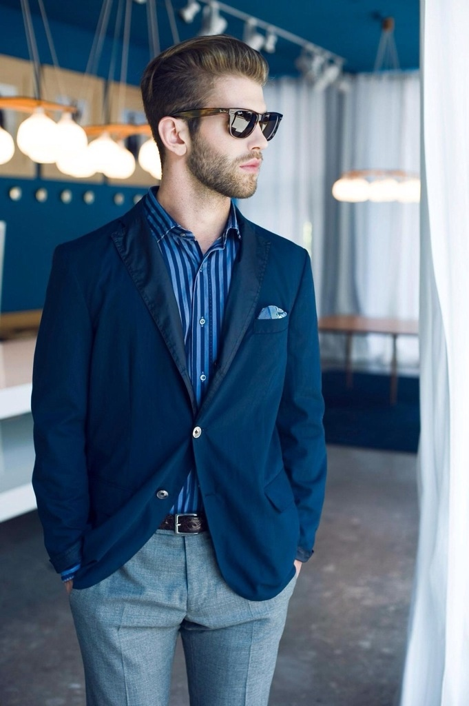 Picture Of elegant striped men outfits for work  12