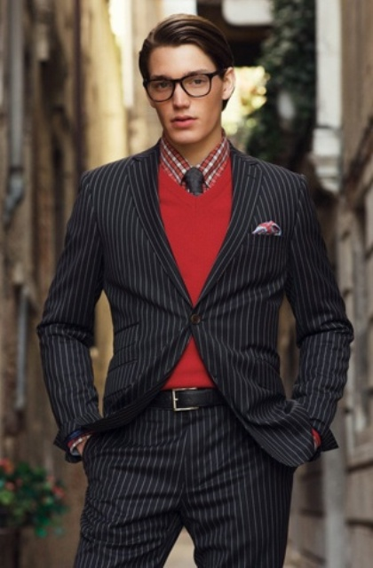 Picture Of elegant striped men outfits for work  16