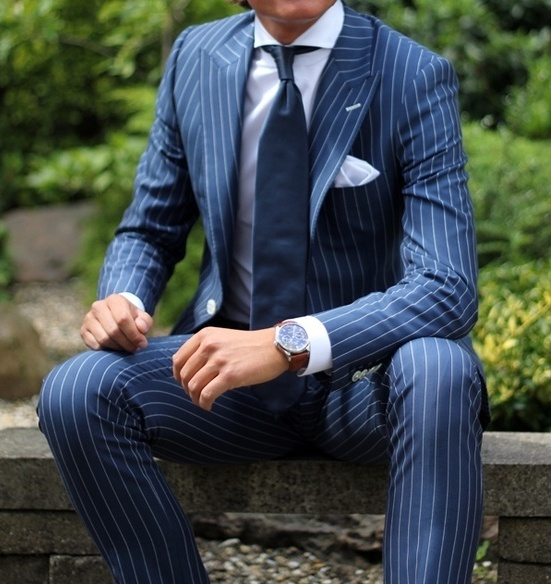 Picture Of elegant striped men outfits for work  18