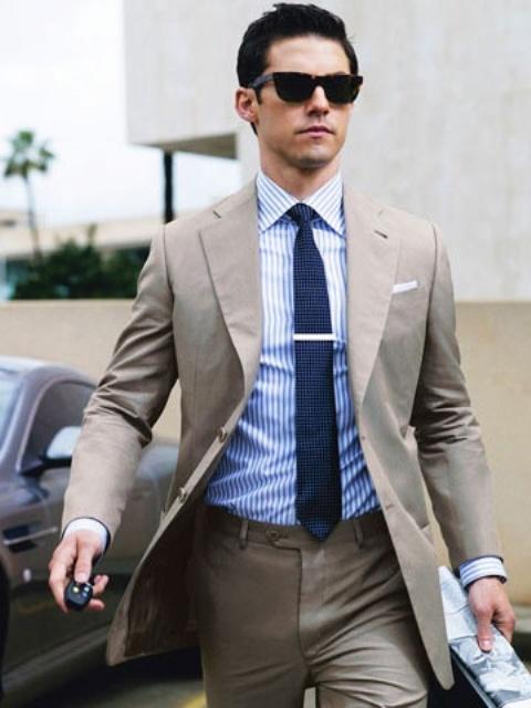 Elegant Striped Men Outfits For Work
