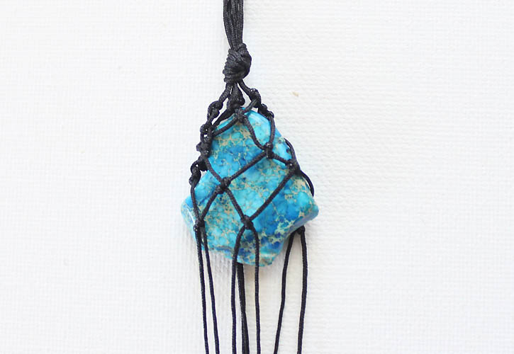 Picture Of eye catching diy macrame pendant necklace  7