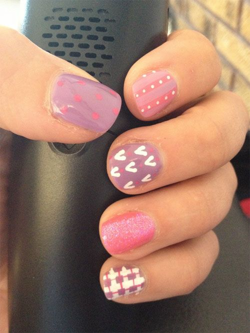 Picture Of eye catching summer nails designs  12