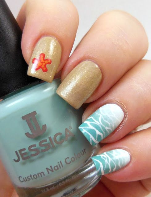 Picture Of eye catching summer nails designs  24