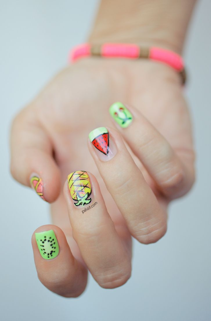 Picture Of eye catching summer nails designs  25