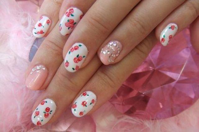 Summer Floral Nail art