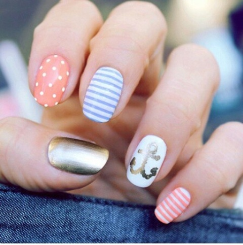 Picture Of eye catching summer nails designs  3