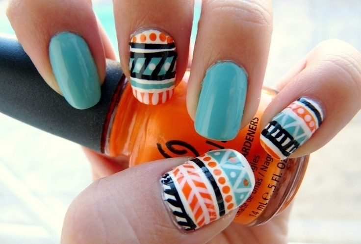 Picture Of eye catching summer nails designs  7