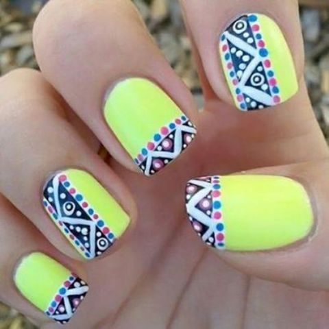 Picture Of eye catching summer nails designs  8