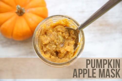 pumpkin and apple facial mask (via hellonatural)