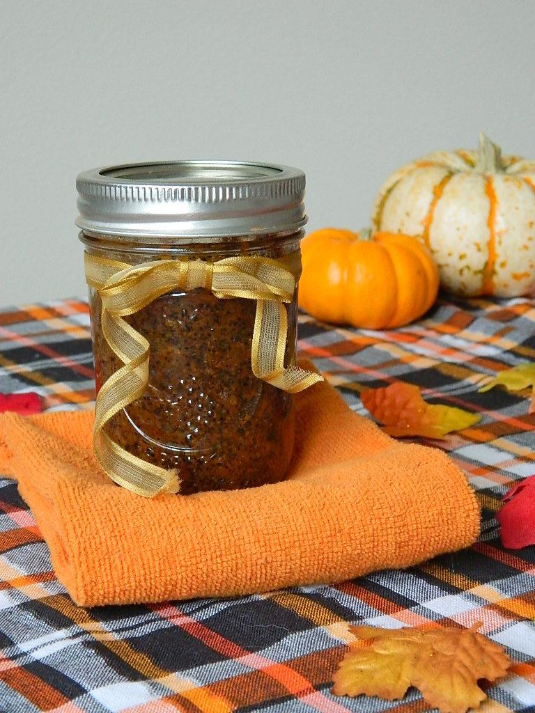 pumpkin spice and coffee body scrub