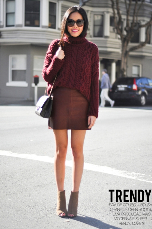 Picture Of fashion trend alert 15 ideas how to wear clothes in wine shades  10
