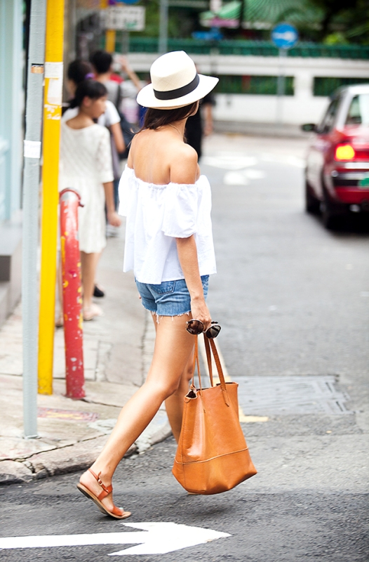 Picture Of feminine and sexy diy off shoulder summer top  2