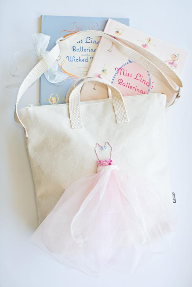 Picture Of feminine diy ballerina tulle tote bag  1