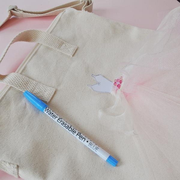 Picture Of feminine diy ballerina tulle tote bag  4