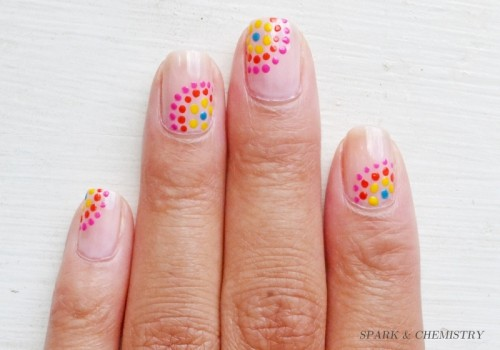 Festive And Fun DIY Dotted Nail Design